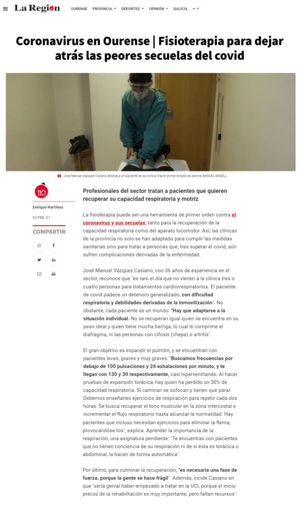 Artículo Casiano tratamientos secuela